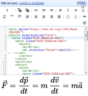 math equation editor